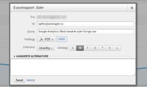 Google Analytics Rapporter på epost