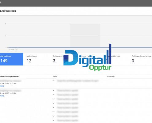 Nye Google AdWords - Endringslogg