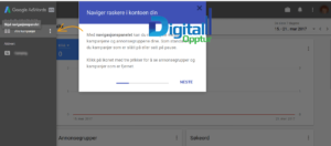 Nye Google AdWords - Navigasjonspanelet