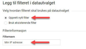 GA filter velg ny og navn
