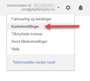 Google AdWords Kontoinnstillinger