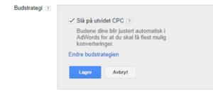 AdWords budstrategi utvidet CPC - ECPC