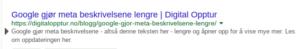 Google gjør meta beskrivelsene lengre