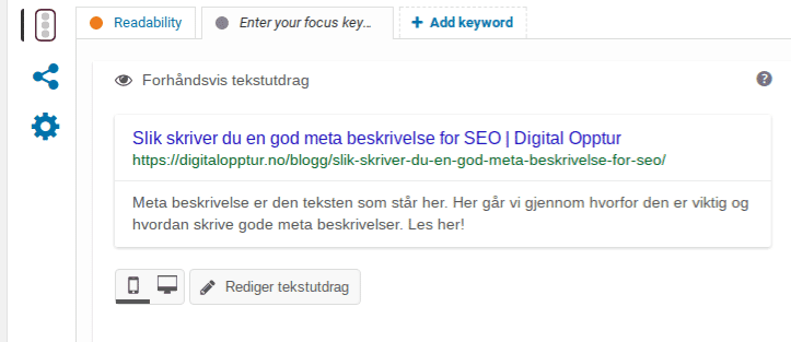 Yoast Slik skirver du en god meta beskrivelse for SEO