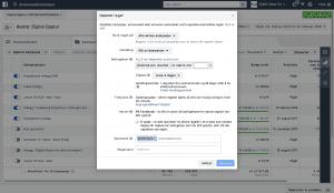 Opprett regler i Facebook detaljer