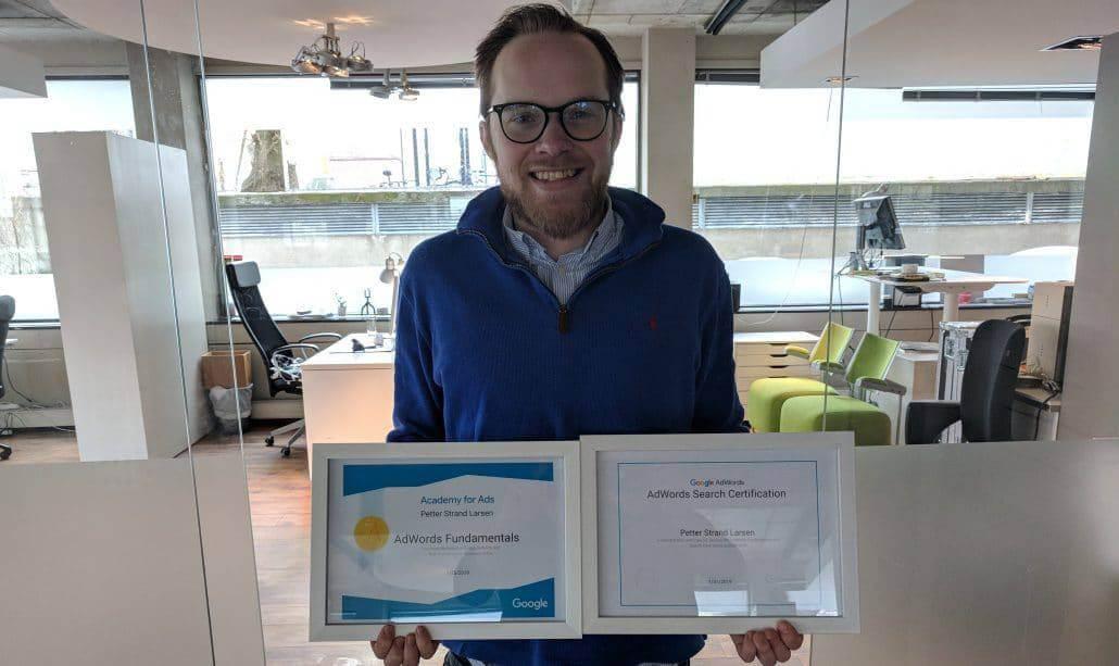 Petter Larsen sertifisert Google Søk