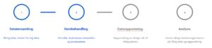 datainnsamling - databehandling- datarapportering - analyse