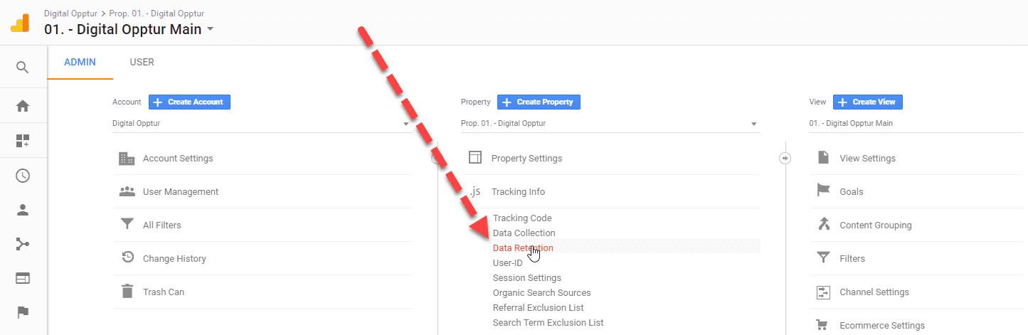 Hvor finner du innstillinger for datalagring