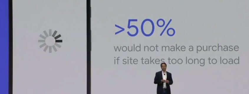 Google mobile landing page speed score keynote