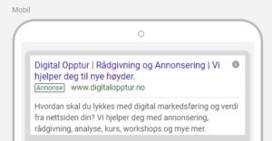 Google Ads ny annonse 3 overskrifter