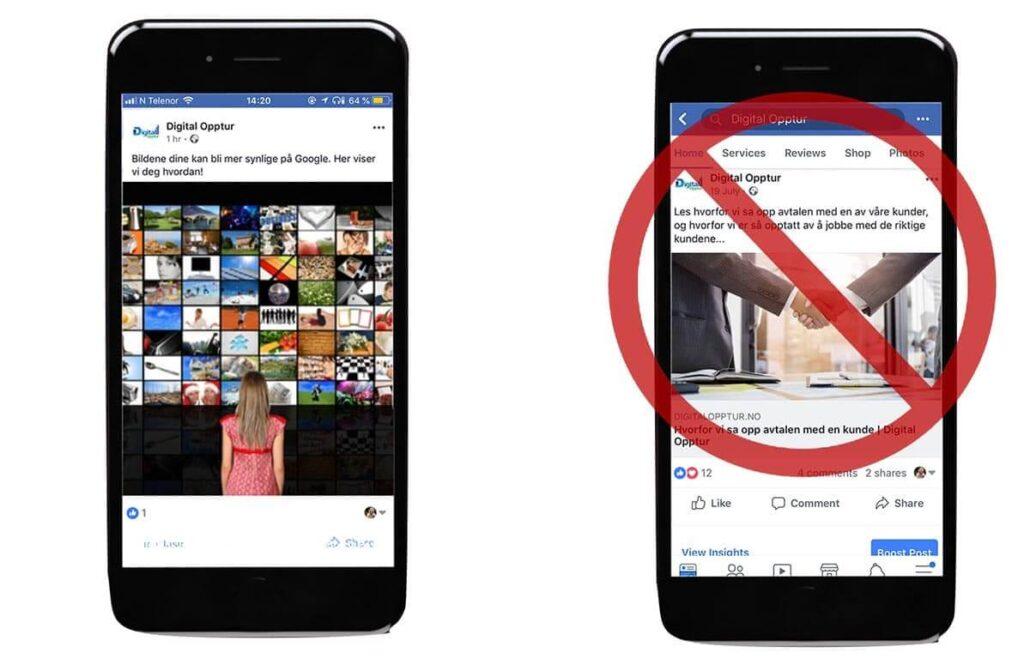 Format for facebook