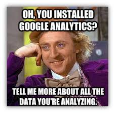 google analytics meme