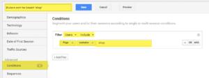 Filter i Google Analytics avansert