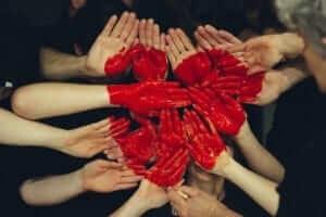 hjerte kjærlighet hender