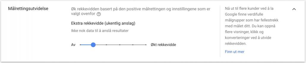 Automatisk målretting for bannerannonser i Google Ads