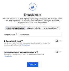 Facebook kampanje engasjement