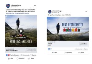 Annonser på Facebook A/B test med stående og liggende bilde
