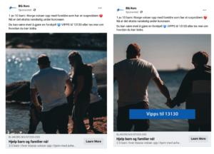 Annonser på Facebook A/B test med tekst i bildet