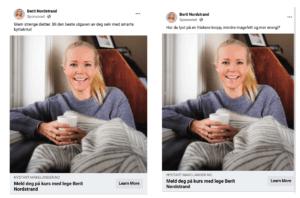 Annonser på Facebook A/B test med kort eller lang tekst