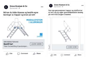 Annonser på Facebook A/B test med flere bilder