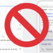 Fjerner utvidede tekstannonser i Google Ads